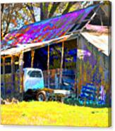 Barn And Truck Canvas Print
