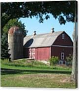 Barn At Leroy Oaks Canvas Print