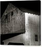 Barn At Night Canvas Print