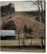 Barn At The Bottom Of The Hill Canvas Print