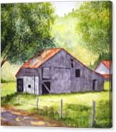 Barn By The Road Canvas Print