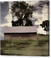 Barn II A Digital Painting Canvas Print