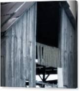 Barn In Blue Canvas Print