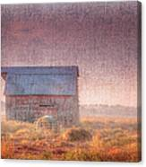 Barn In Early Light  Canvas Print