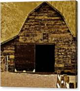 Barn In Sepia Canvas Print