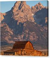 Barn In The Tetons One Canvas Print
