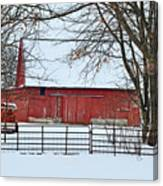 Barn In The Winter Canvas Print