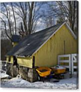 Barn In Winter Canvas Print