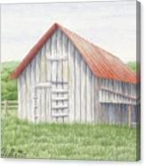 Barn Near Forest Canvas Print