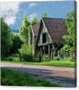 Barn Near Lac De Panthier - P4a160017 Canvas Print
