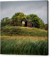 Barn On Hill Canvas Print