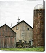 Barn On The Georgia Shore Road Canvas Print