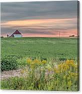 Barn On The Horizon  Canvas Print