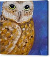 Barn Owl- Impressionism- Owl By Night Canvas Print