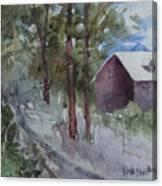 Barn Road Canvas Print