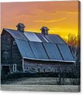 Barn Sunset Canvas Print