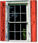 Barn Window Closeup At Old World Wisconsin Canvas Print