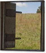 Barn Window View Canvas Print