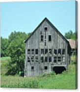 Barn With Chickens In Window Canvas Print