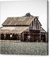 Barn With Outhouse Canvas Print