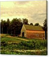 Barn With Wildflowers Canvas Print