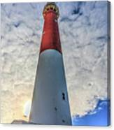 Barnegat Lighthouse In The Clouds Canvas Print