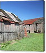 Barns Of Old Canvas Print