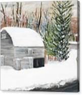 Barns Of West Sand Lake 2 Canvas Print