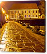 Baroque Town Of Varazdin Square At Evening Canvas Print