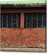 Barred And Weathered Canvas Print