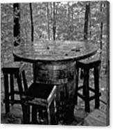 Barrel In The Woods Canvas Print