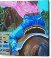 Barrel Rider Canvas Print