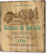 Barrel Wine Label 2 Canvas Print