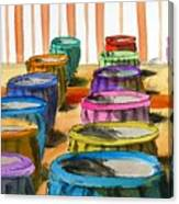 Barrels Of Color Canvas Print