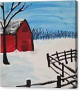 Barren Barn Canvas Print
