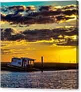 Barrier Island Sunset Canvas Print