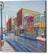 Barrington St In Winter Canvas Print