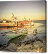 Barriquant Dock Under Sunset  Canvas Print