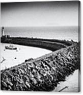 Barry Island Breakwater Film Noir Canvas Print