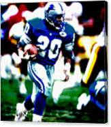Barry Sanders On The Move Canvas Print