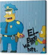 Bart Was Here Canvas Print