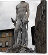 Bartolomeo's Neptune Fountain 2 Canvas Print