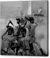 Base Ball Players Canvas Print
