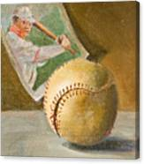 Baseball And Card Canvas Print