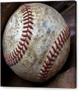 Baseball Close Up Canvas Print