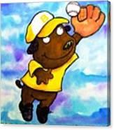 Baseball Dog 4 Canvas Print