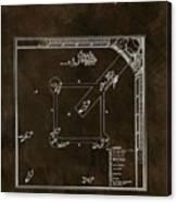 Baseball Game Patent Canvas Print