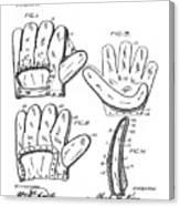 Baseball Glove Patent 1910 Canvas Print