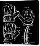 Baseball Glove Patent 1910 In Black Canvas Print