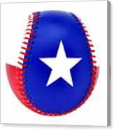 Baseball Star Canvas Print